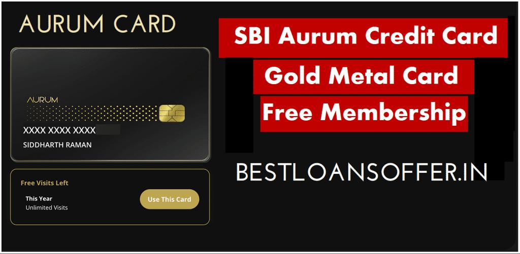 SBI Aurum Credit card Kaise Le   SBI Super Premium Credit Card Apply Online: SBI Aurum Metal Credit Card Kaise le